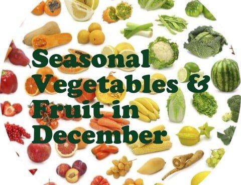 Seasonal Vegetables & Fruit in December
